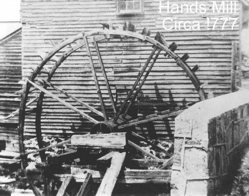 Closeup of the water wheel at Hands Mill