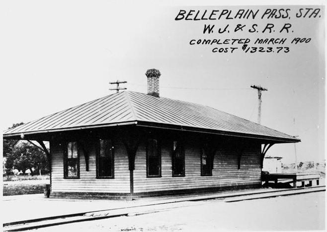 Belleplain Railroad Station completed in 1900