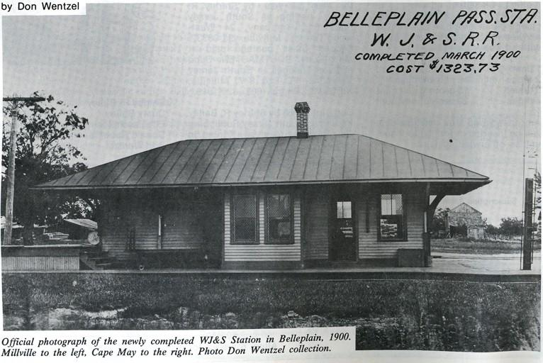 Newspaper clipping of the Belleplain Railroad Station