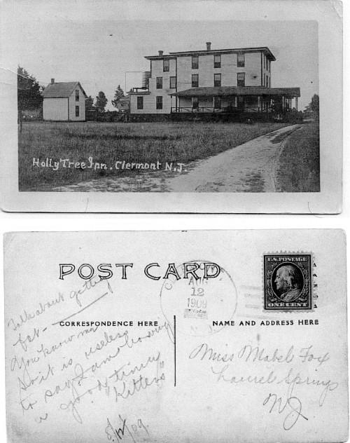 Post card showing the Holly Tree Inn postmarked 1909