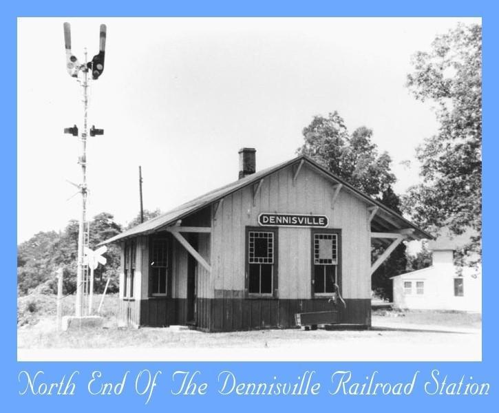 Dennisville Railroad Station and signals