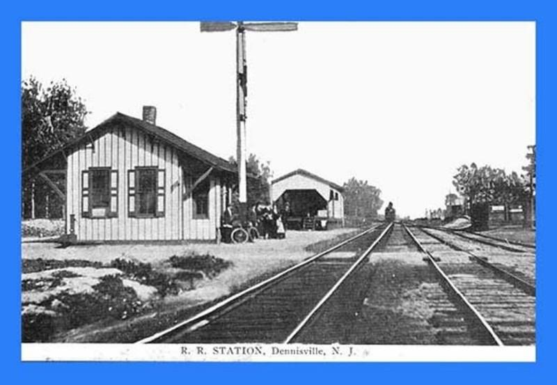 Railroad station and tracks in Dennisville