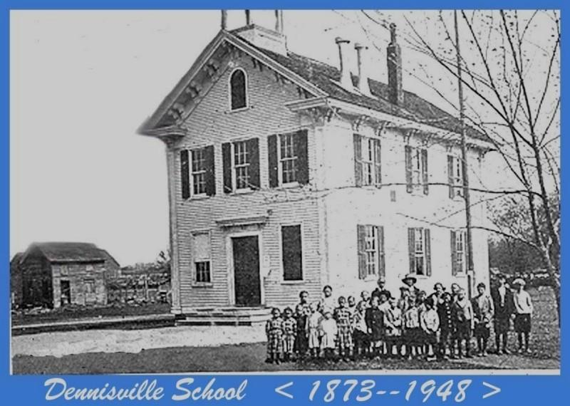 Dennisville School with students standing in front