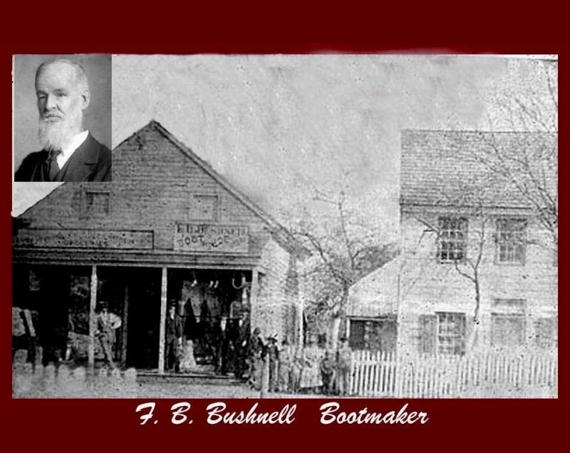 Bushnell Boot Shop with picture of Mr. Bushnell inset