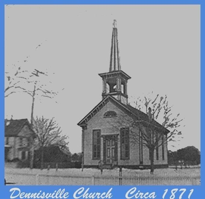 Dennisville Church and steeple from circa 1871