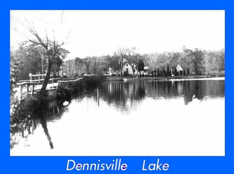Dennisville Lake with buildings in distance