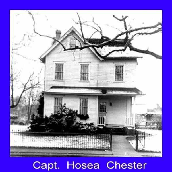 House of Captain Hosea Chester with snow