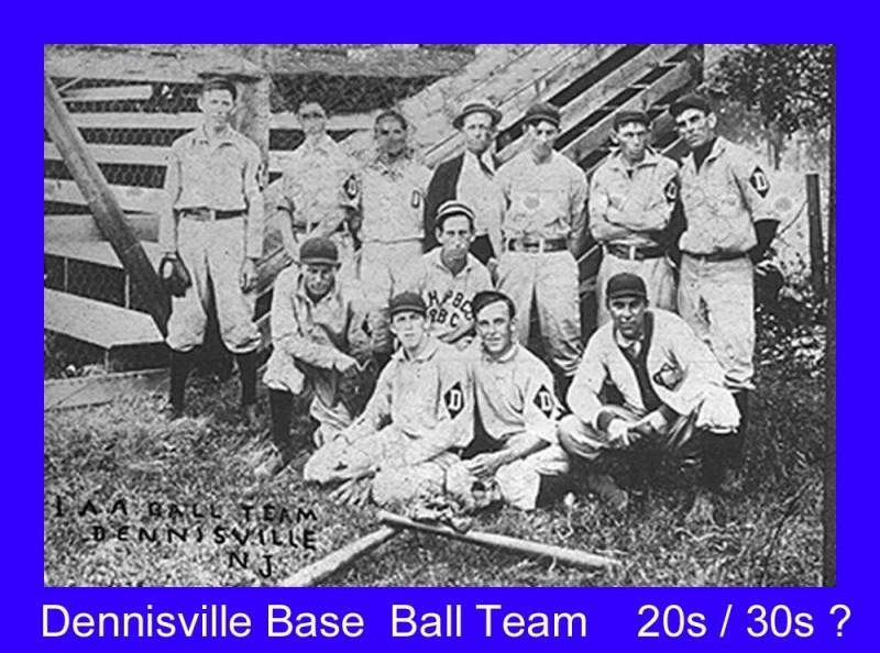 Dennisville baseball team probably from 1920s or 30s