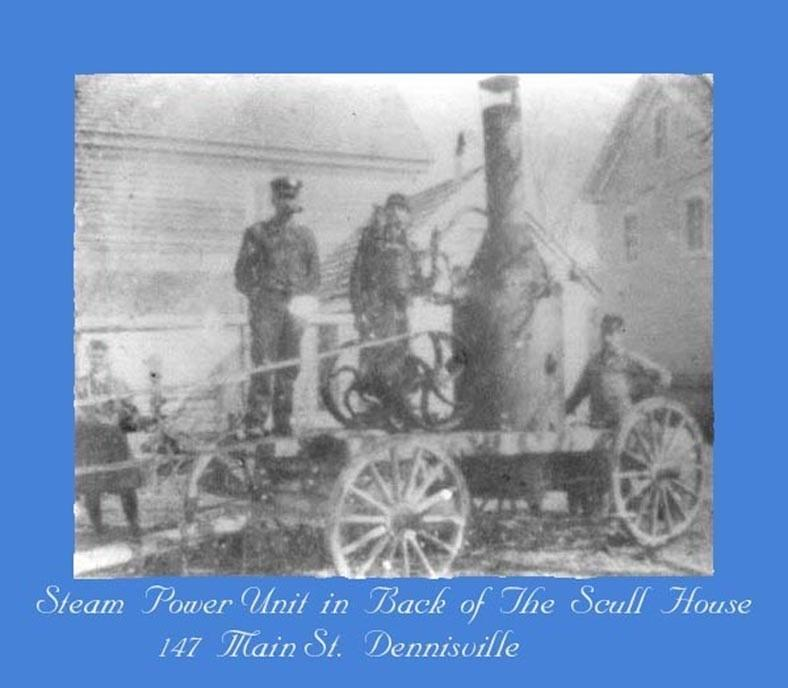Scull House horse drawn steam power unit