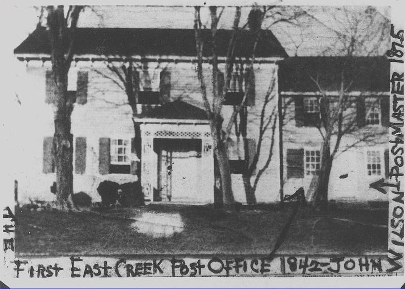 East Creek Post Office circa 1842