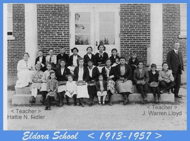 Eldora School Class and teachers of 1916