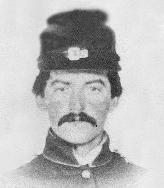 Richard Townsend wearing civil war uniform