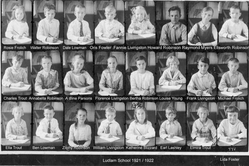 Individual photos of the Ludlam class of 1921-1922