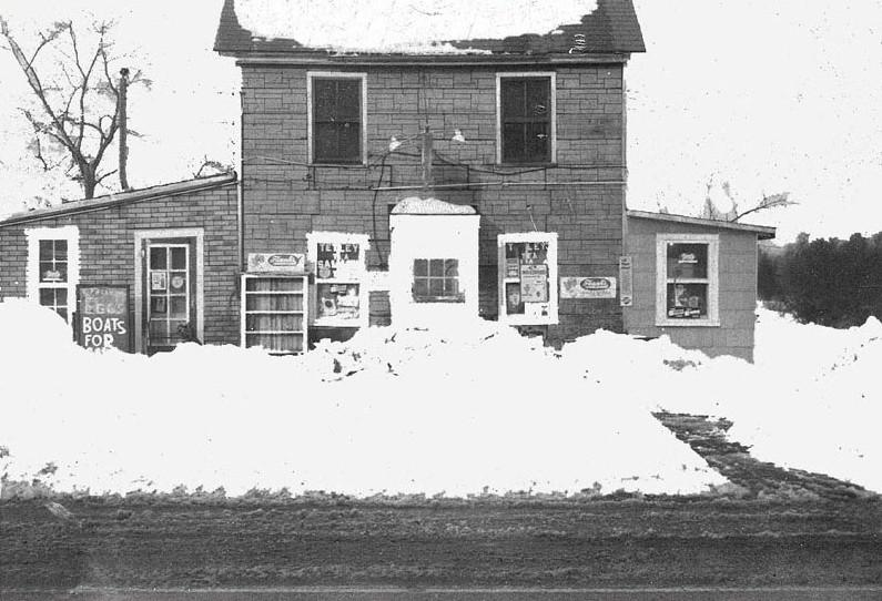 Minnie Robinson Store with snow in front
