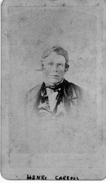 Faded old photo of Henry Carroll