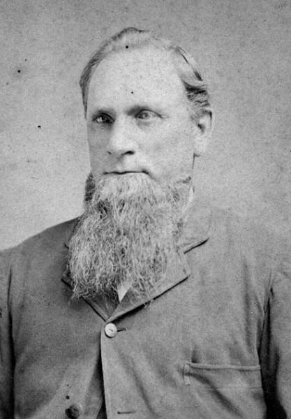 Man with long beard named Aaron Nickerson