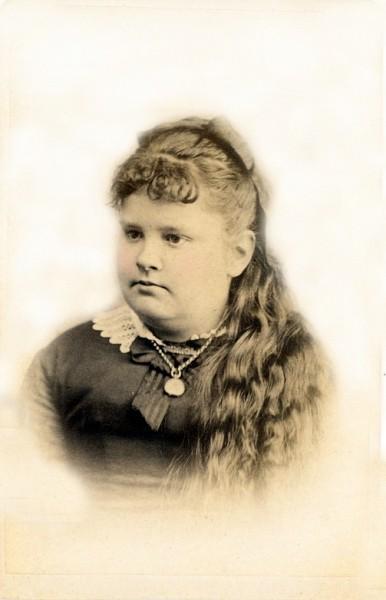 Young woman named Bertha Vanartsdalen