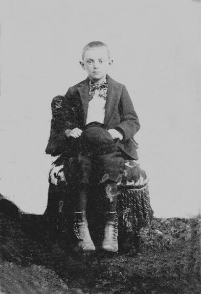 Young boy identified as William Walter Robinson