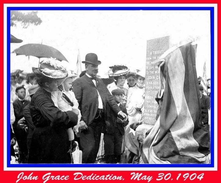 1904 Dedication of a tribute monument to John Grace