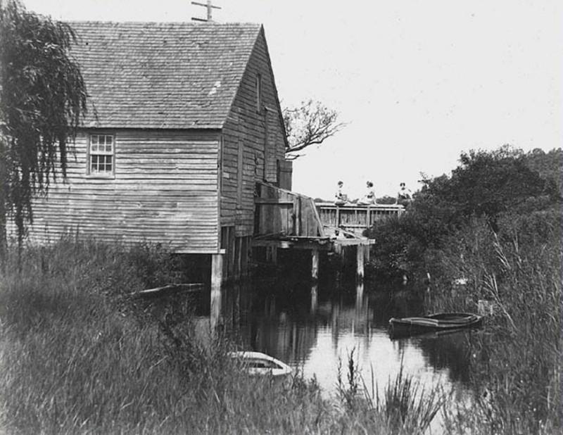Mill house on waterway