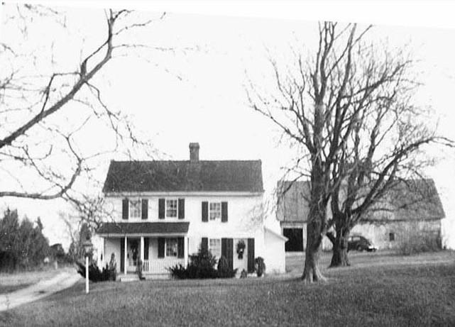 John Townsend house and barn with trees