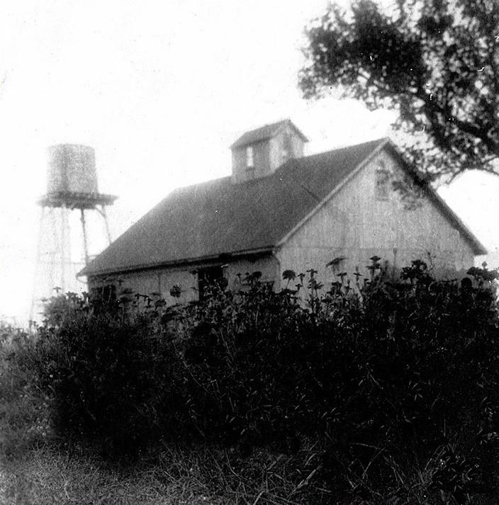 Water Tower and barn owned by John Townsend