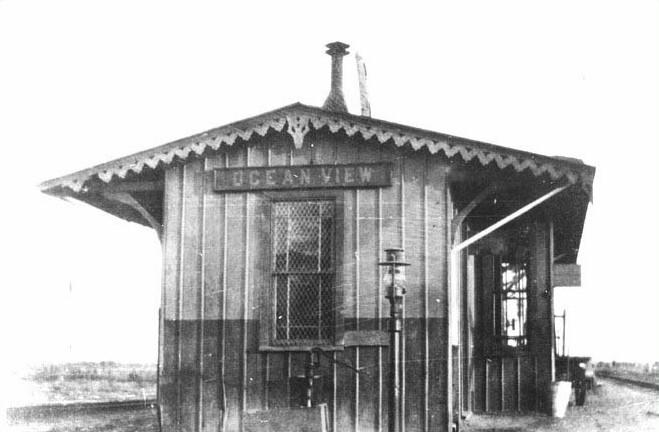 End view of the Ocean View railroad station