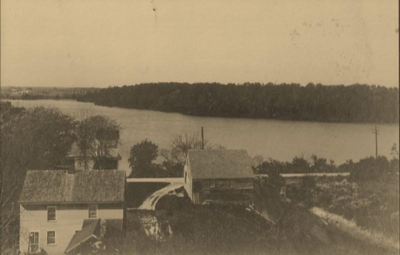Aerial view of Mill Creek and Magnolia Lake circa 1915