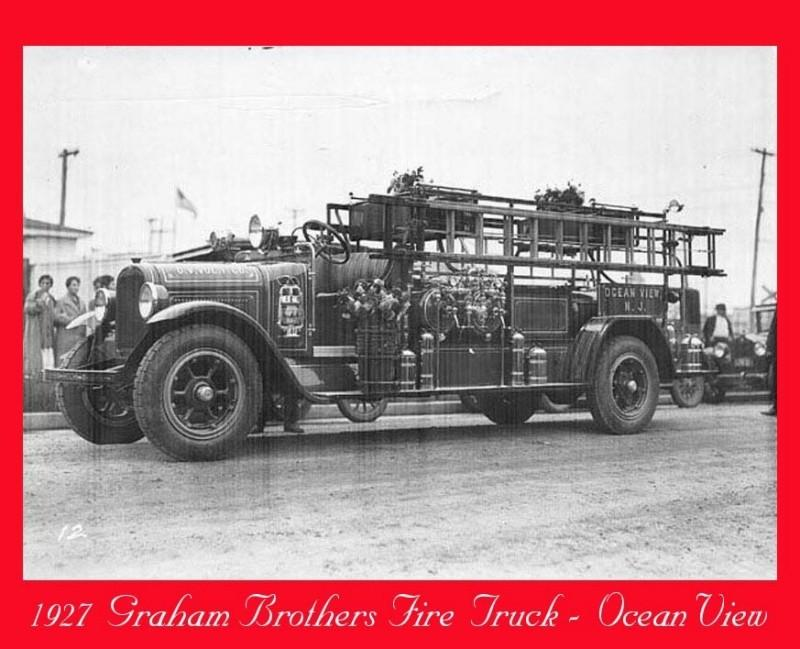 Graham Brothers Fire Truck dated 1927