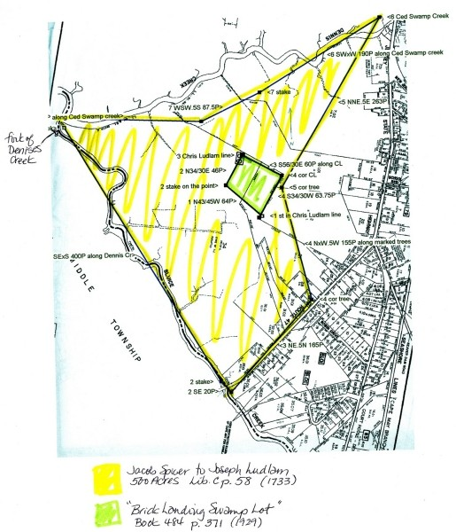 Tax map for Brick Landing and Ludlam property