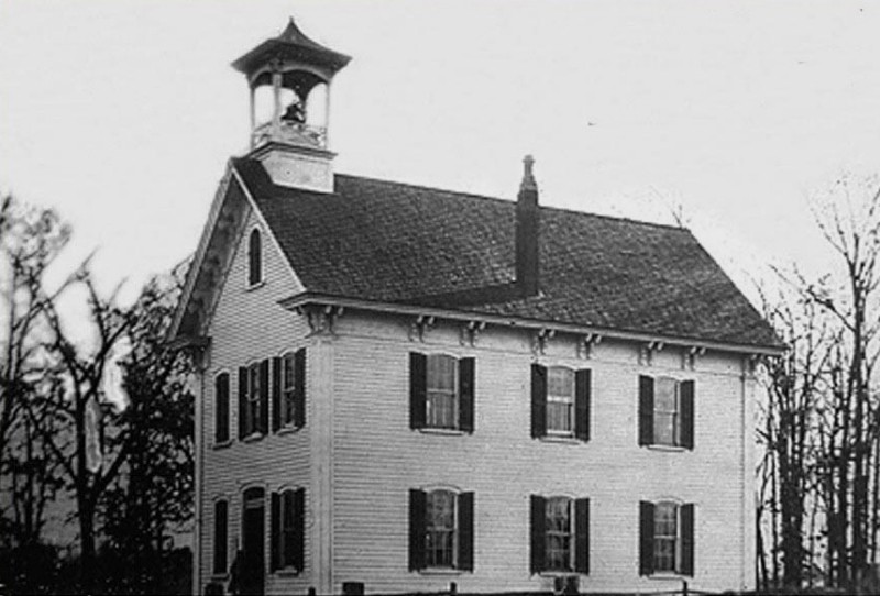 Old schoolhouse circa 1840 to 1952