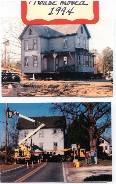 Cain house being moved in 1994