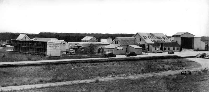 View of the JP Collins lumber yard