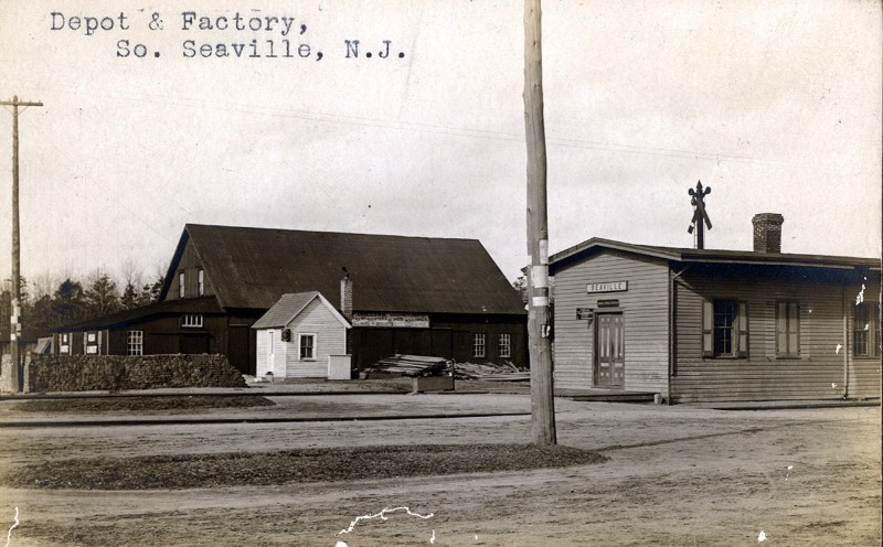 Train depot and other buildings