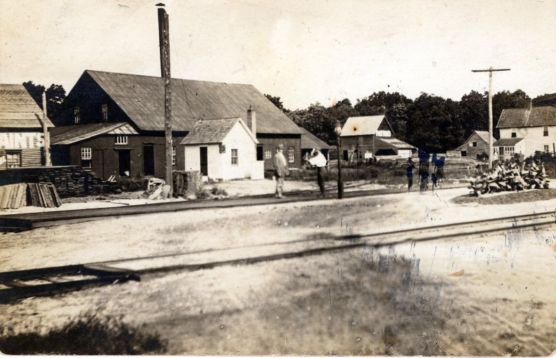 Collins Lumber with railroad tracks in front