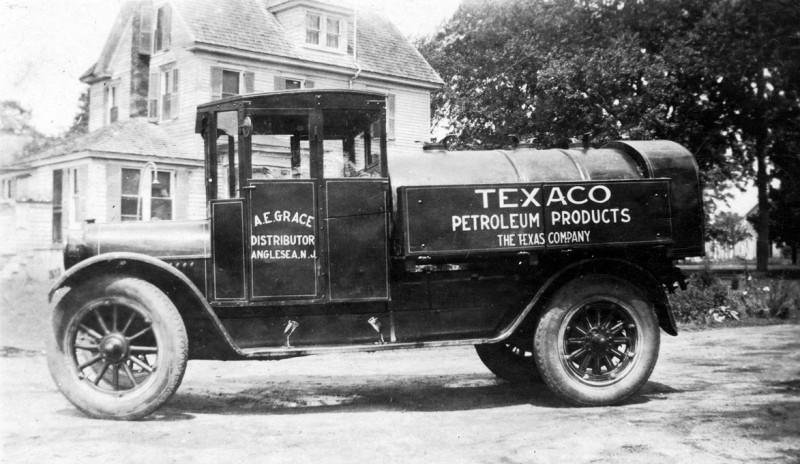 Antique Texaco Petroleum delivery truck