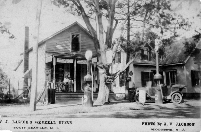 Old postcard showing Laricks General Store