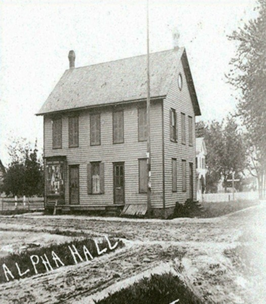 Old house for the Alpha Hall