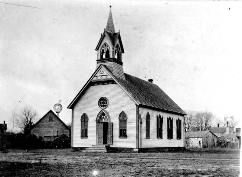 Old photo of the Methodist church