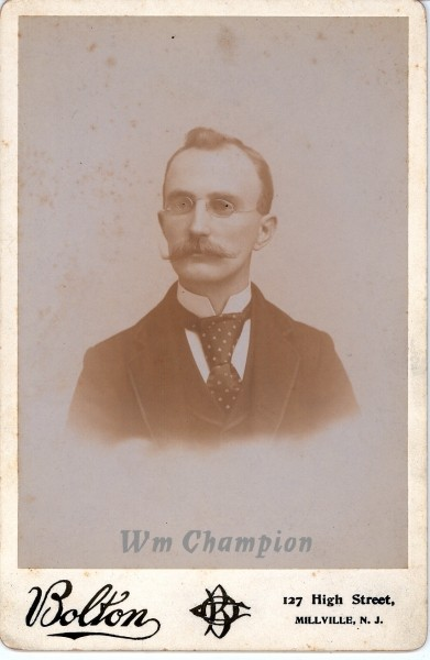 William Champion portrait postcard