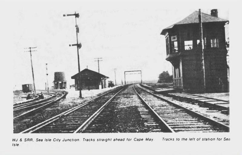 Train tracks and tower in Sea Isle City