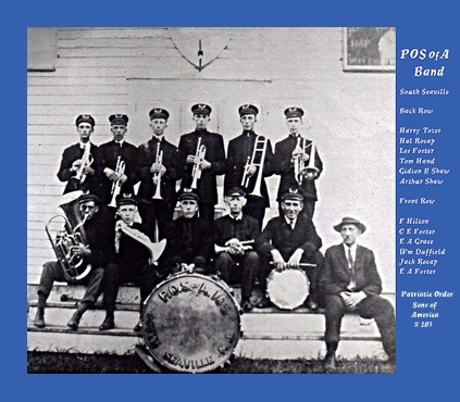 Brass and drum band named the Patriotic Order Sons of America Band