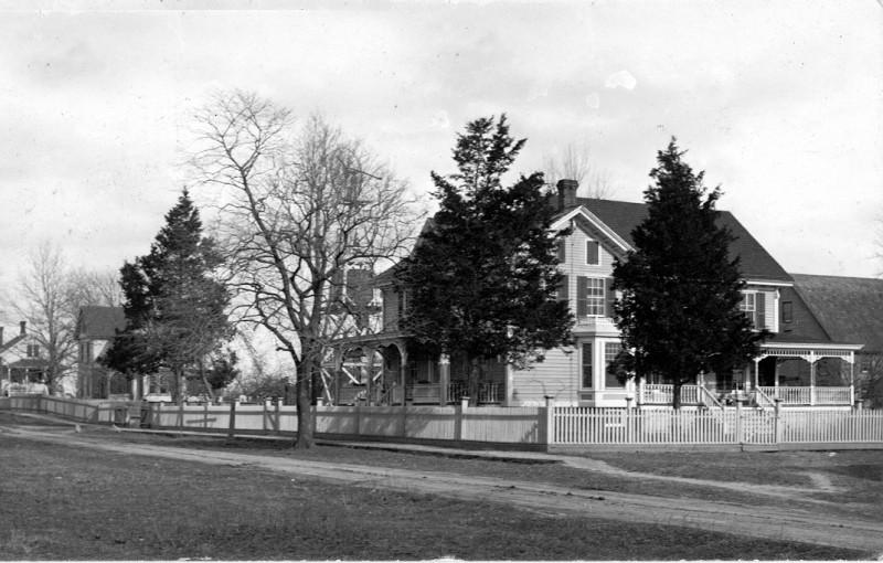 Way-Blenko House with fence around yard