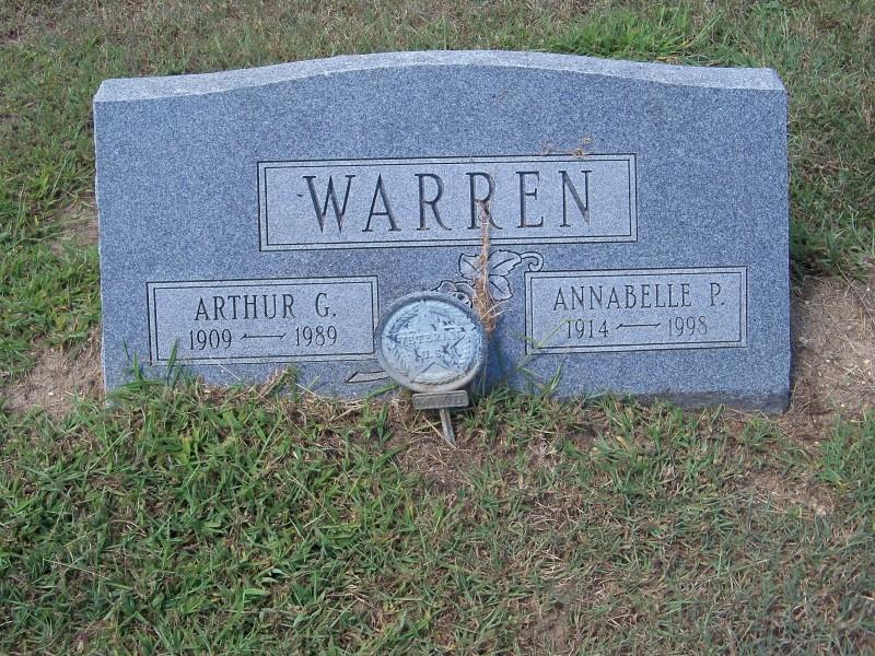 Warren grave marker