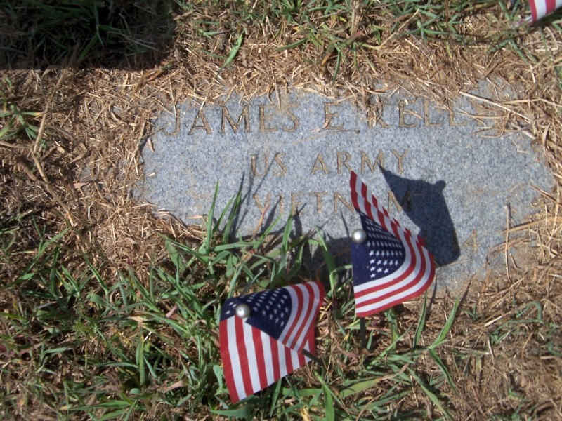 James Kelly marker with flags