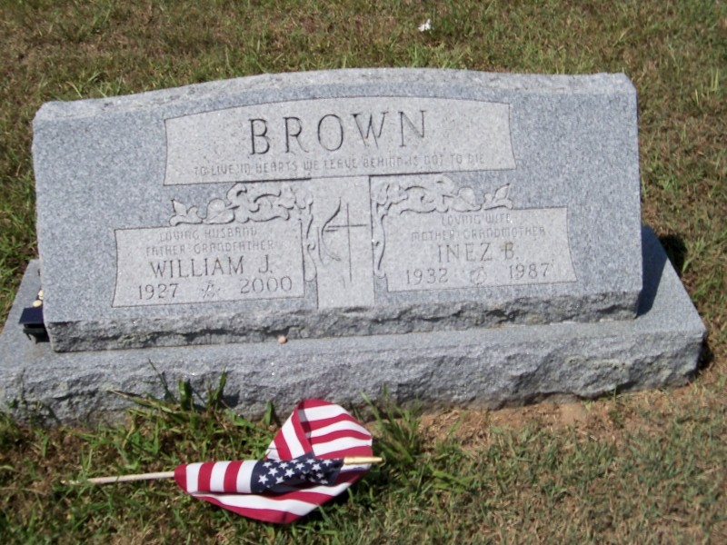 Brown tombstone