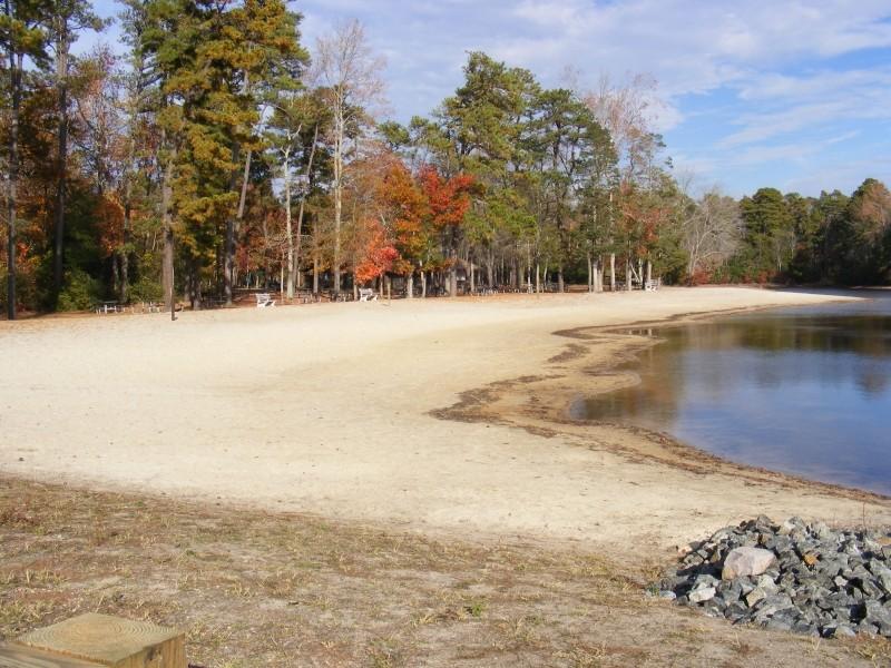 Nummy Lake with sandy beach