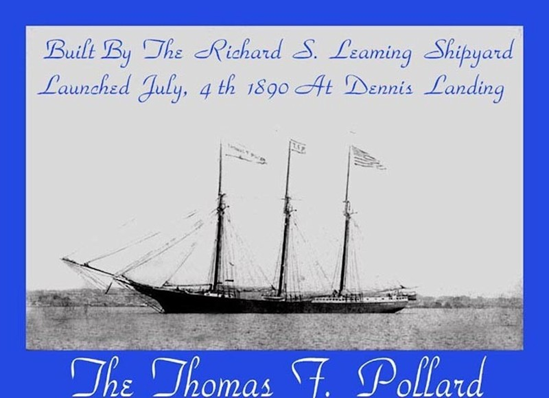 Old sailship called Thomas F. Pollard launched in 1890