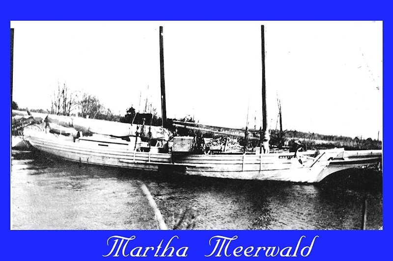 Old ship named the Martha Meerwald
