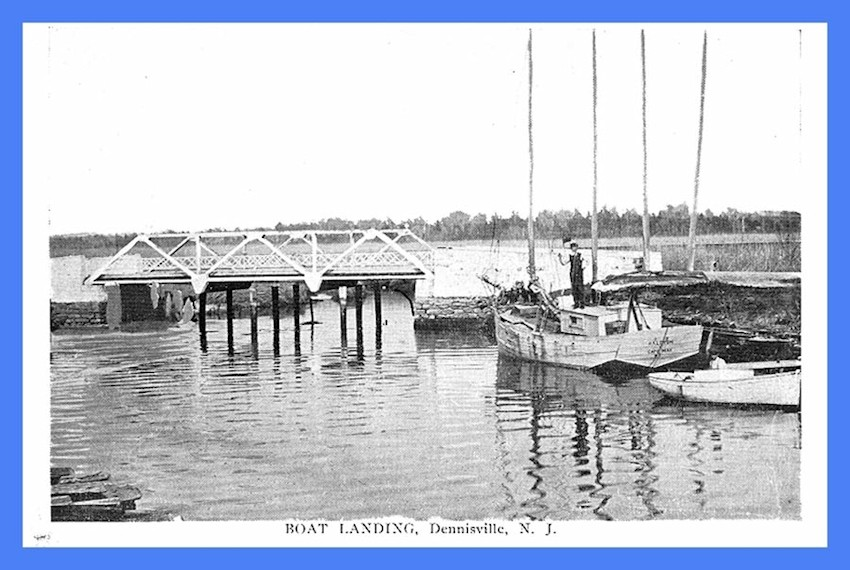 Boat landing and bridge in Dennisville